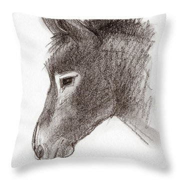 Portrait Of A Mule Throw Pillow