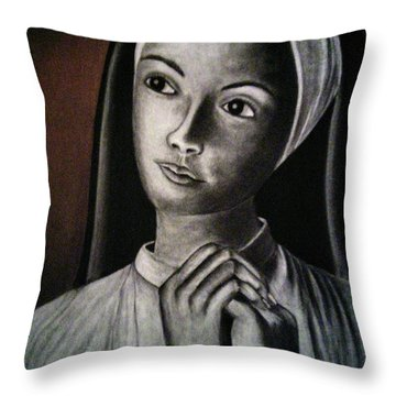 Portrait Of A Nun Throw Pillow