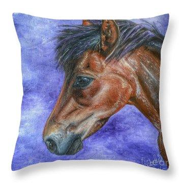 Portrait Of A Pony Throw Pillow
