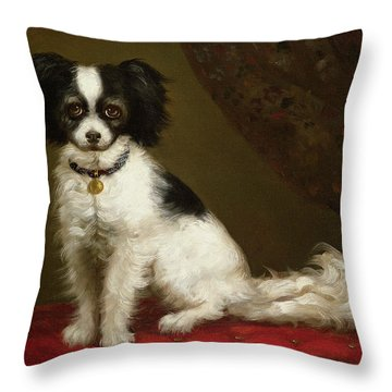 Portrait Of A Spaniel Throw Pillow by Anonymous