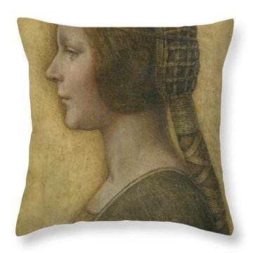 Portrait Of A Young Fiancee Throw Pillow