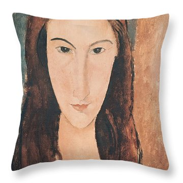 Portrait Of A Young Girl Throw Pillow by Amedeo Modigliani
