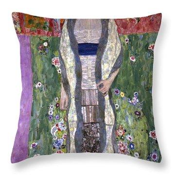 Portrait Of Adele Bloch-bauer II Throw Pillow by Gustav Klimt
