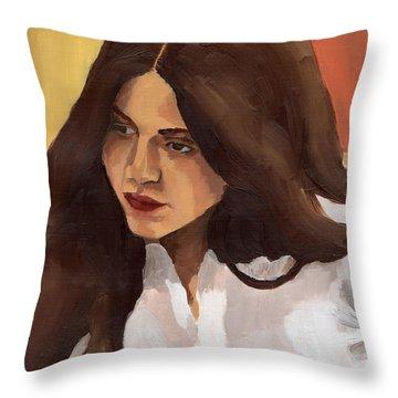 Portrait Of Amelia Throw Pillow