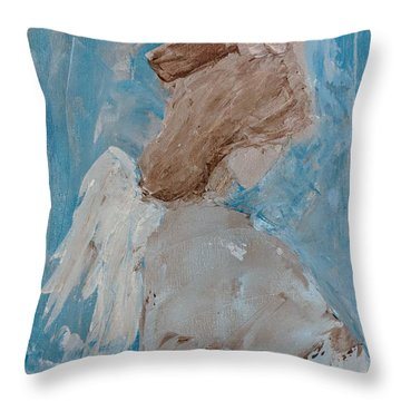 Portrait Of An Angel Throw Pillow