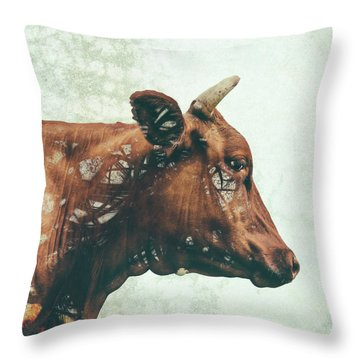 Portrait Of Bess Throw Pillow by Katherine Smit