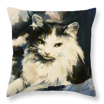 Portrait Of Buffy Detail One Throw Pillow