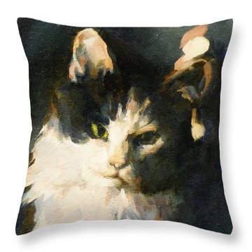 Portrait Of Buffy Detail Three Throw Pillow
