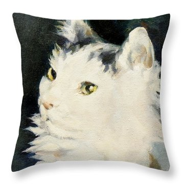 Portrait Of Buffy Detail Two Throw Pillow
