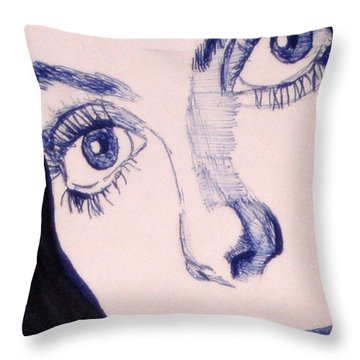 Portrait Of Catherine Close Up Details Throw Pillow