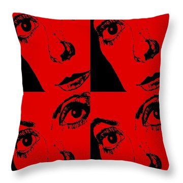 Portrait Of Catherine Pop Art Design Throw Pillow