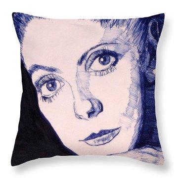 Portrait Of Catherine Throw Pillow