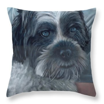 Portrait Of Charley Throw Pillow