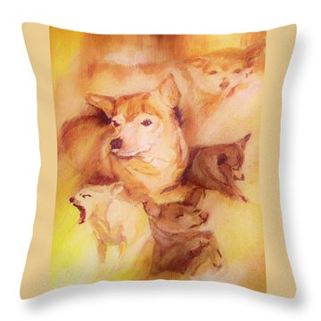 Portrait Of Chi Chi Throw Pillow by Denise Fulmer