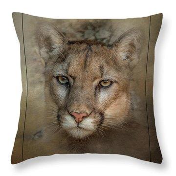 Portrait Of Cruz Throw Pillow