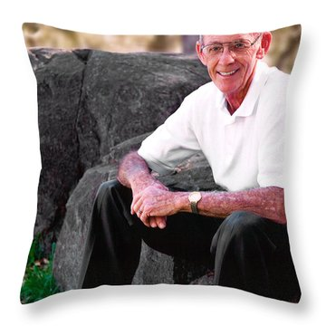 Portrait Of Dad Throw Pillow