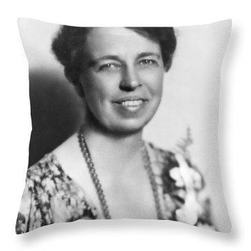 Portrait Of Eleanor Roosevelt Throw Pillow
