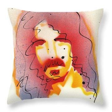 Portrait Of Frank Zappa Throw Pillow