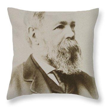 Portrait Of Friedrich Engels Throw Pillow