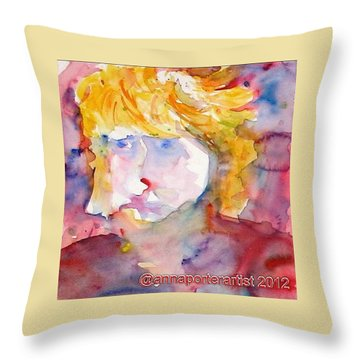 Portrait Of Graham Throw Pillow by Anna Porter