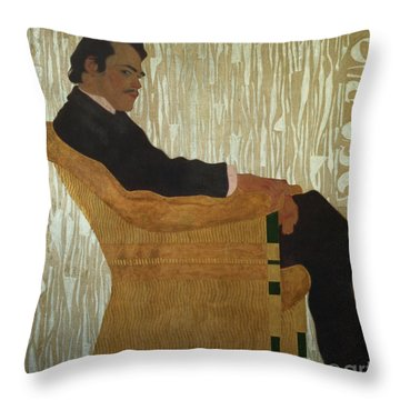 Portrait Of Hans Massmann Throw Pillow by Egon Schiele