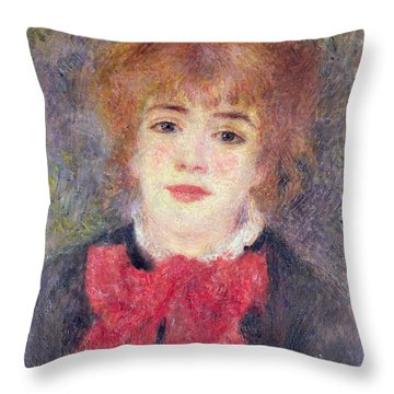 Portrait Of Jeanne Samary Throw Pillow by Renoir