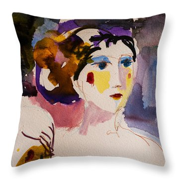 Portrait Of Joy Throw Pillow