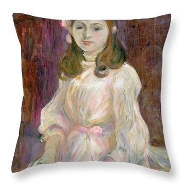 Portrait Of Julie Manet Throw Pillow by Berthe Morisot