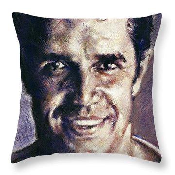 Portrait Of Julien Clerc Throw Pillow