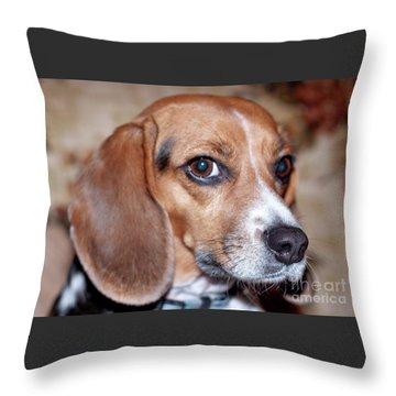 Portrait Of Kalee Throw Pillow