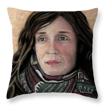 Portrait Of Katy Desmond, C. 2017 Throw Pillow