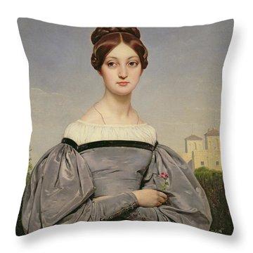 Portrait Of Louise Vernet Throw Pillow by Emile Jean Horace Vernet
