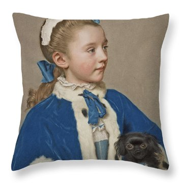 Portrait Of Maria Frederike Van Reede-athlone At Seven Years Of Age Throw Pillow