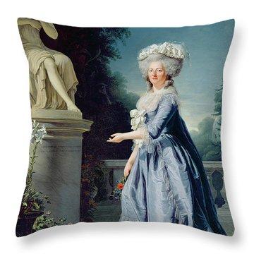 Portrait Of Marie-louise Victoire De France Throw Pillow by Adelaide Labille-Guiard