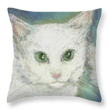 Portrait Of Misty Throw Pillow