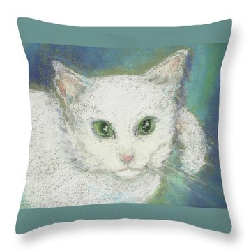 Throw Pillow featuring the drawing Portrait Of Misty by Denise Fulmer