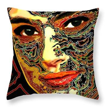 Portrait Of Natalie Portman Throw Pillow