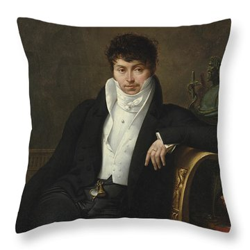 Portrait Of Pierre-jean-george Cabanis Throw Pillow by Merry-Joseph Blondel