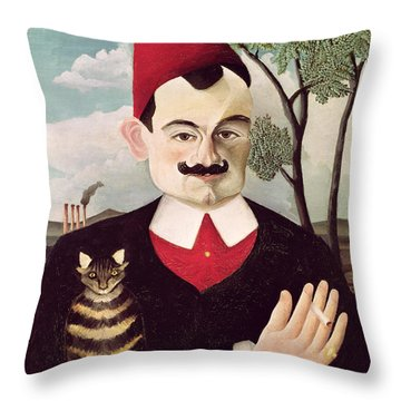 Portrait Of Pierre Loti Throw Pillow by Henri Rousseau