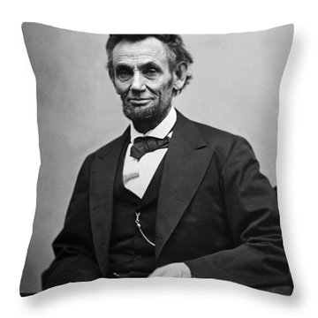 Portrait Of President Abraham Lincoln Throw Pillow by International  Images