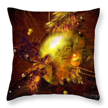 Portrait Of Reincarnated Prince Throw Pillow