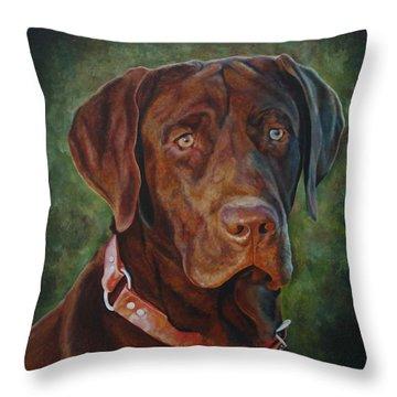 Portrait Of Remington 0094_2 Throw Pillow