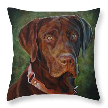 Portrait Of Remington 0094_2 Throw Pillow