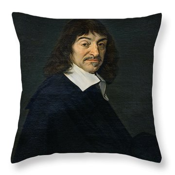 Portrait Of Rene Descartes Throw Pillow