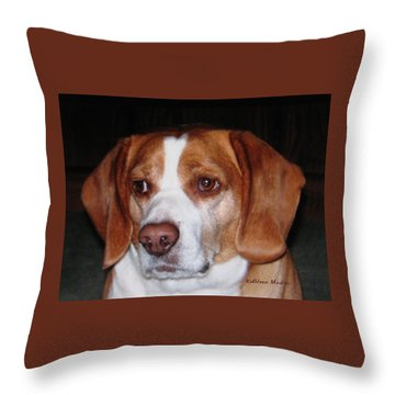 Portrait Of Rusty Throw Pillow