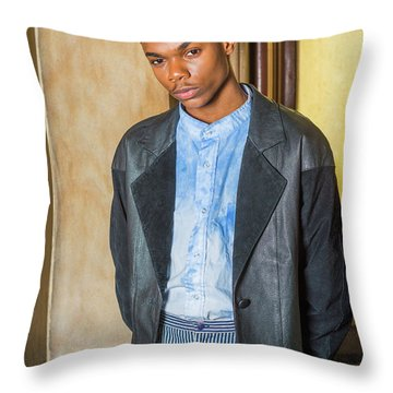 Throw Pillow featuring the photograph Portrait Of School Boy 15042625 by Alexander Image