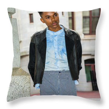Throw Pillow featuring the photograph Portrait Of School Boy 15042637 by Alexander Image