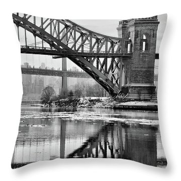 Portrait Of The Hellgate Throw Pillow