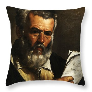 Portrait Of The Philosopher Anaximander Throw Pillow