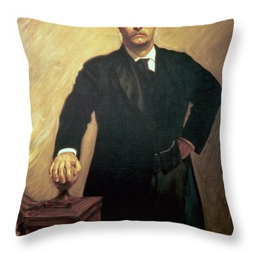 Portrait Of Theodore Roosevelt Throw Pillow by John Singer Sargent